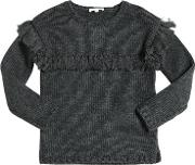 Tricot Cotton & Wool Blend Sweater