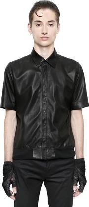 Nappa Leather Short Sleeve Shirt
