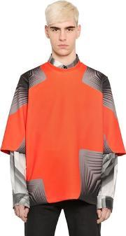 Pages Printed Light Neoprene T Shirt