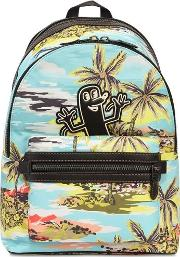 Keith Haring Printed Nylon Backpack