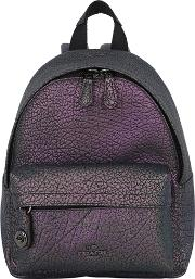 Iridescent Textured Leather Backpack