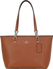Small Sophia Pebbled Leather Tote Bag