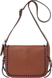 The Dakota Studded Leather Shoulder Bag