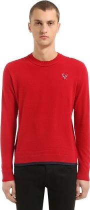 T Rex Patch Wool & Cashmere Knit Sweater