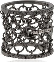 Entwined Mesh Corset Ring For Lvr