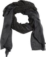 Modal Scarf W Leather Details