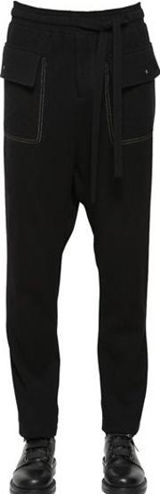 Wool Pants With Contrasting Color Seams