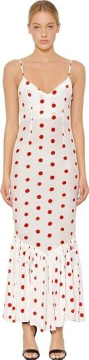 Capri Polka Dot Printed Silk Dress