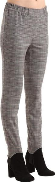 Mahdi Stirrup Check Slim Viscose Pants