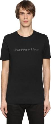 Abstraction Print Cotton Jersey T Shirt