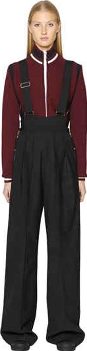 Stretch Wool Overall Pants