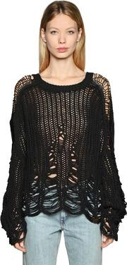 Destroyed Mesh Knit Sweater