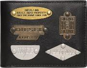 Metal Plaques Leather Wallet