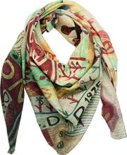Salvation Mountain Printed Scarf