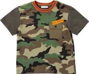 Camouflage Cotton Jersey T Shirt