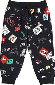 Doodles Printed Cotton Sweatpants
