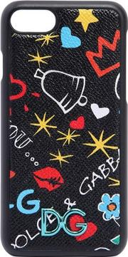 Graffiti Printed Leather Iphone 7 Cover