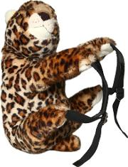 Leopard Shaped Plush Backpack
