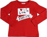 Love Patches Jersey Long Sleeve T Shirt