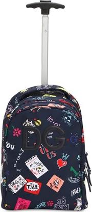 Printed Nylon Canvas Rolling Backpack
