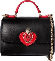 Sicily Heart Leather Top Handle Bag
