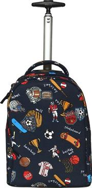 Sports Nylon Canvas Rolling Backpack