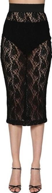 Stretch Lace Pencil Skirt