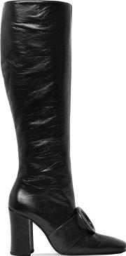 90mm Sybil Leek Leather Tall Boots