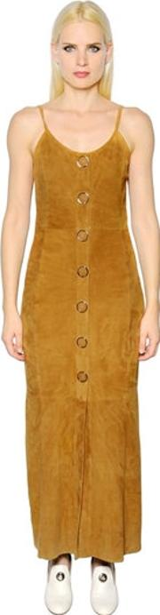 Button Up Suede Dress