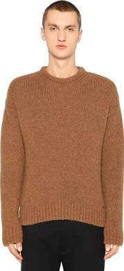 Alpaca & Wool Blend Knit Sweater