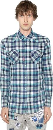 Bleached Check Cotton Western Shirt