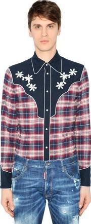 Brushed Cotton Flannel Western Shirt