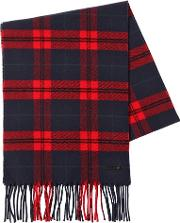 Checked Wool & Cashmere Scarf