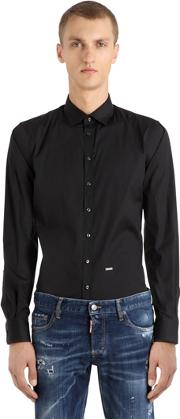 Cotton Poplin Stretch Shirt