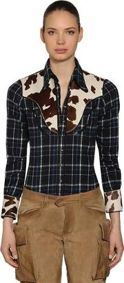 Cowgirl Cotton Plaid Shirt