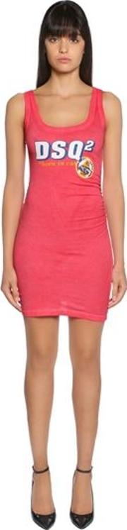 Dsq2 Cotton Jersey Sleeveless Dress