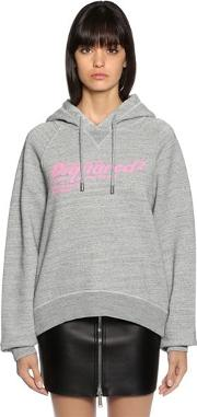 Logo Print Hooded Cotton Sweatshirt