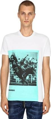 Rodeo Printed Cotton Jersey T Shirt