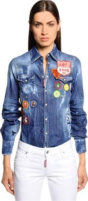 Scout Patches Washed Denim Shirt