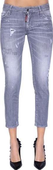 Super Skinny Cropped Denim Jeans