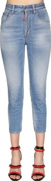 Twiggy High Waist Cropped Denim Jeans