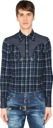 Western Brushed Cotton Flannel Shirt