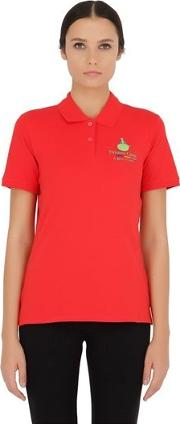 Stretch Cotton Pique Polo Shirt