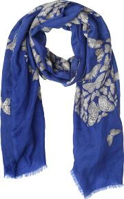 Butterfly Printed Cashmere Scarf