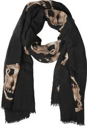Skull Printed Cashmere Scarf