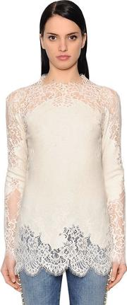 Cashmere Top W Lace Inserts