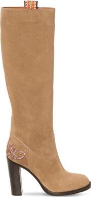 95mm Suede Tall Boots