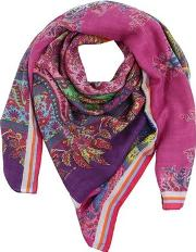 Bombay Printed Cashmere & Silk Scarf