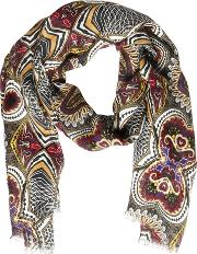 Paisley Printed Linen Scarf