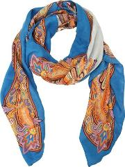 Printed Modal & Cashmere Scarf